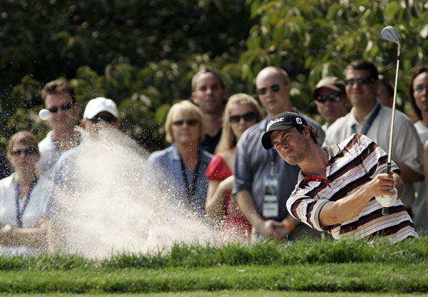 Adam Scott made two birdies on the back nine to finish six behind Choi.