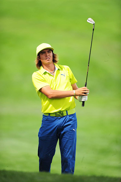 Rickie Fowler managed a 67 at Plainfield on Friday.