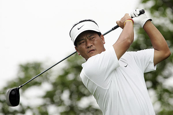 K.J. Choi struggled in the beginning, with three bogeys on the front nine. He finished second at 14 under par.