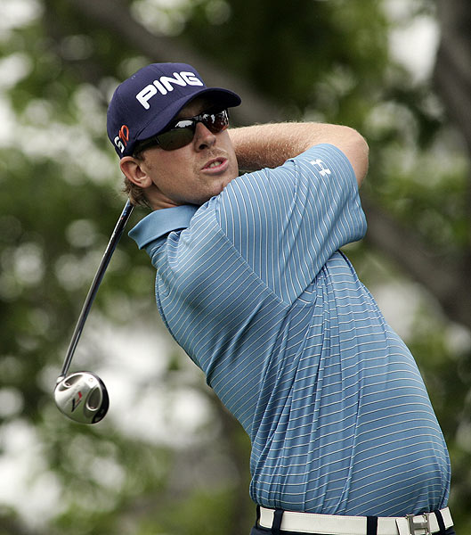 Hunter Mahan double-bogeyed the par-4 11th hole. He finished at seven under par.