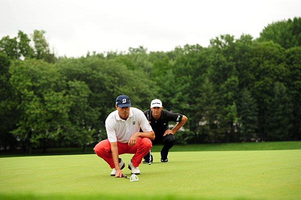 Kuchar shot a 31 on the front nine, while Johnson shot a 29 for the second straight day.