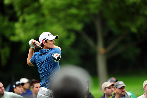 Justin Rose shot a four-under 67 to record his first top-10 finish since March.