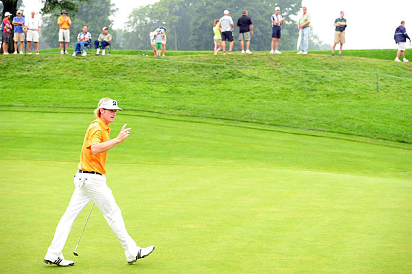 Brandt Snedeker made 11 birdies and a bogey to shoot a 61 and tie for third.