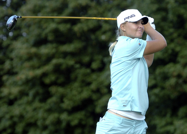 Anna Nordqvist made five birdies and two bogeys to grab a one-shot lead.
