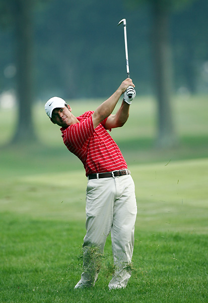 Paul Casey birdied two of his last three holes to grab a share of the lead.
