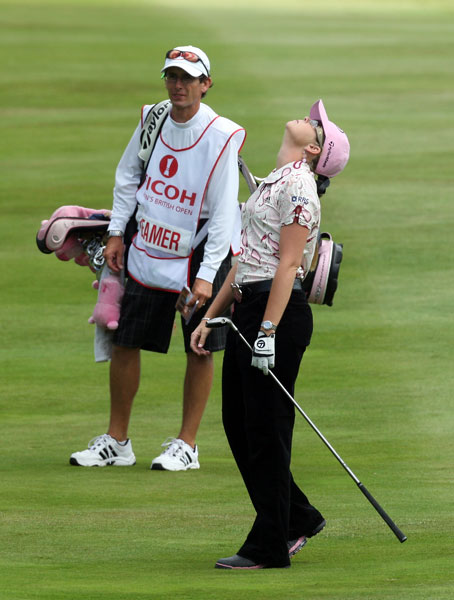 Paula Creamer started her round with three straight birdies, but she only managed a two-under 70.