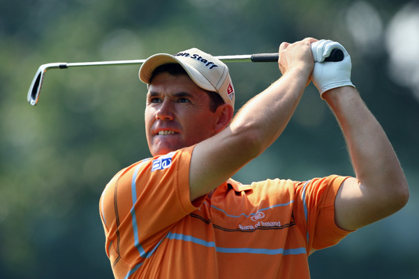 British Open champ Padraig Harrington bogeyed 18 to shoot a two-over 72.