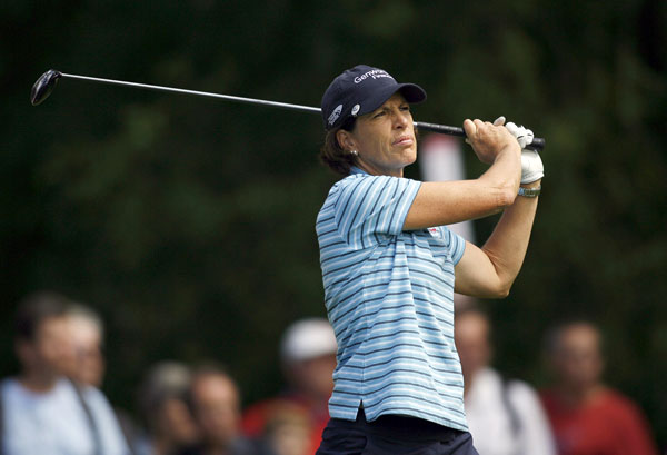 Juli Inkster started eagle-birdie, and she finished with a 71.