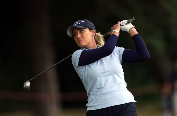 Cristie Kerr made a bogey on 18 to shoot a 70.