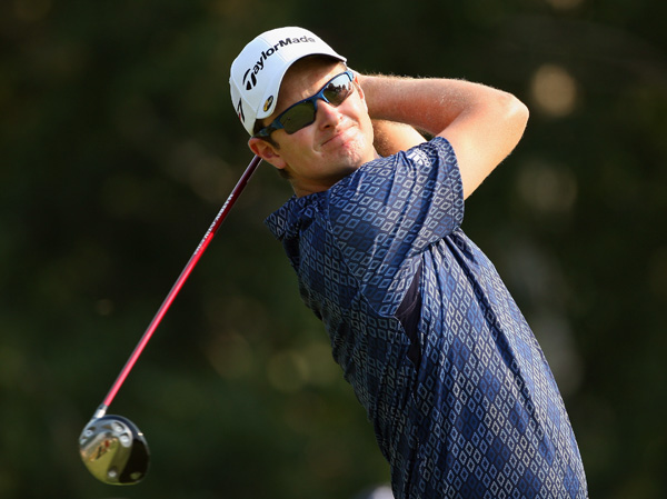 Justin Rose made an eagle on No. 2 and finished with a 69.