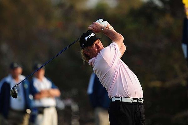 Miguel Angel Jimenez                       Spain                       Age: 44                       RC Rank: 13                        Driving Yds. 280.5 (129th)                       Fairways Pct. 59.6% (114th)                       GIR Pct. 69.2% (53rd)                       Putting Avg. 1.735 (6th)                                              Ryder Cup (2) 2-5-2                       World Rank 18th                                              An easygoing and popular player known as the                       Mechanic, Jimenez will be Europe's surrogate                       for the fun-loving Clarke, with whom he shares a love of wine and                       cigars. Like Vijay Singh, Jimenez has gotten better with age. Eight                       of his European tour wins have come in the last four years, including                       this year's triumph at the European PGA.