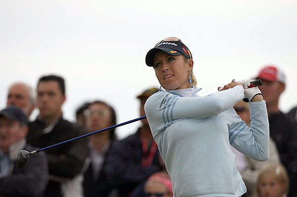 Natalie Gulbis made three bogeys on the back nine to finish at three over.