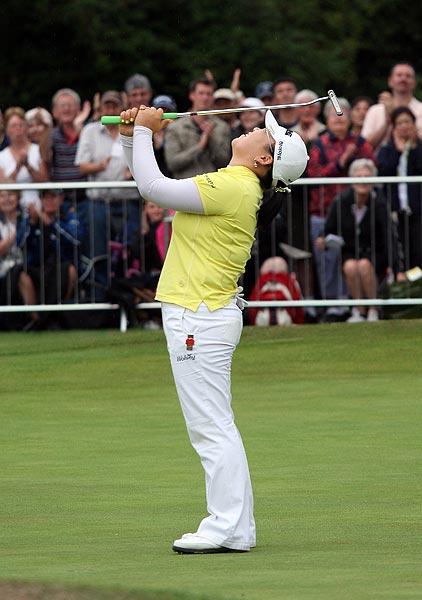 Ji-Yai Shin, a 20-year-old South Korean, won her first major at the Women's British Open.