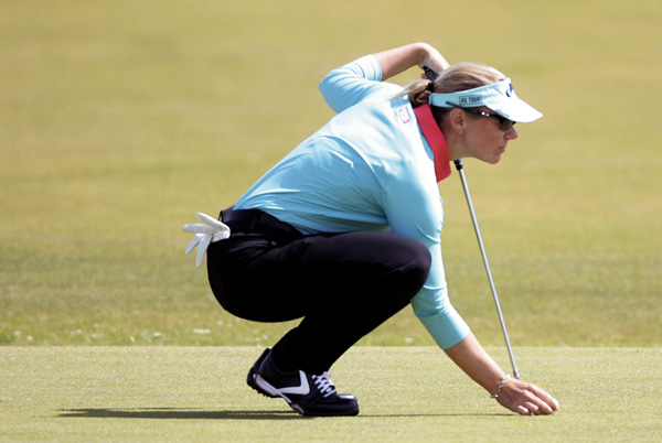 Annika Sorenstam couldn't make a move in the third round. She finished with a four-over 77 and is seven behind Ochoa.