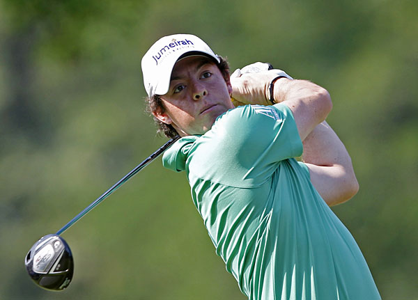 Rory McIlroy made four birdies on the back nine to shoot a 67.