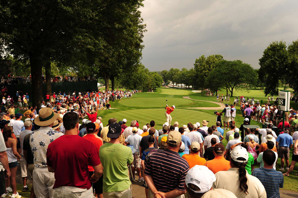 withdrew after shooting a 76. Westwood also withdrew from next week's PGA Championship due to a calf injury.