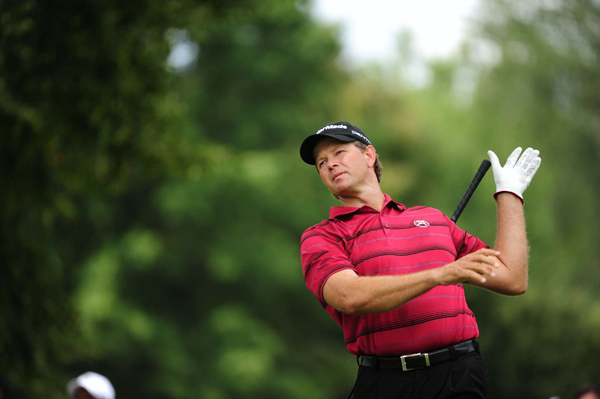 started the day with the lead, but he quickly lost it after a triple bogey on No. 1. Goosen shot a 3-over 73.