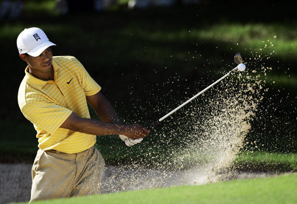 Woods tied for 12th at the 2001 U.S. Open at Southern Hills.