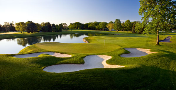"""Hole 16                      Par 4                      406 yards                                          If you miss the big lake on the right with your tee shot, don't worry — you can always hit it with your approach. Brad Faxon recalls, """"I was playing with J.B. Holmes and he hit a 350-yard drive, carried all the water. But they'd shaved all the banks around the green, and he ended up hitting four good shots that spun back into the water."""" At least Holmes had company. Phil Mickelson also hit his approach shot into the water here at the 2004 Ryder Cup, a play that NBC's Johnny Miller famously called """"nutso."""""""