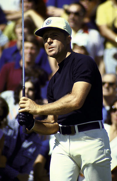 No. 3 Gary Player                       Flying Blind                        1972 PGA Championship                         Oakland Hills C.C., Bloomfield Hills, Mich.                                              At the par-4 16th, faced with a 150-yard prayer from behind a willow tree and over a lake, Player calmly grabbed his 9-iron and stiffed the shot to four feet for his sixth major and second PGA title.