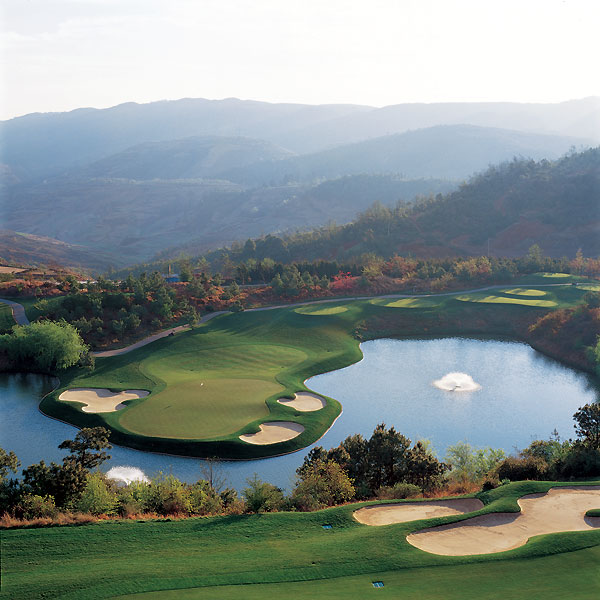 Spring City Golf & Lake Resort                        Kunming, Yunnan                         01186-0871-7671188                        springcityresort.com                                              The two courses here may be the best in China: the Jack Nicklaus-designed Mountain Course and Robert Trent Jones Jr.'s Lake Course. The Nicklaus course tumbles over ideally rolling terrain, but top-dog honors go to the 7,240-yard Jones course: The drop-shot par-3 8th might be the prettiest hole in Asia.