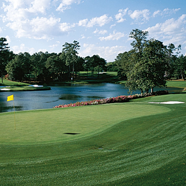 The Incredible Shrinking Augusta                     The 1,060-yard par-3 course is what would happen if you put the Dry Clean Only big course into the dryer while it was still wet. The par-3 course may be prettier than the big course, and it's easier to walk. When you walk onto it                     on Wednesday, turn around and check out the members and their friends hanging out on the balconies of the cottages drinking Coors Light.