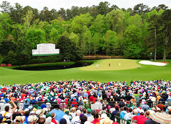 3. Augusta National -- No. 11, 505-yard Par-4                                          Stroke Average: 4.480                     Augusta National's 505-yard, par-4 11th hole is so dangerous for those who pull their approaches that Ben Hogan once stated that if he hit the green in two, he will have missed the shot, because he was aiming safely to the right of the green. A realigned fairway, recently planted trees and that pesky pond left of the green add to the peril.