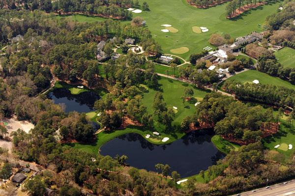 Augusta National                     Augusta National is home to the Masters each year. An aerial look offers a view of the par-3 course.
