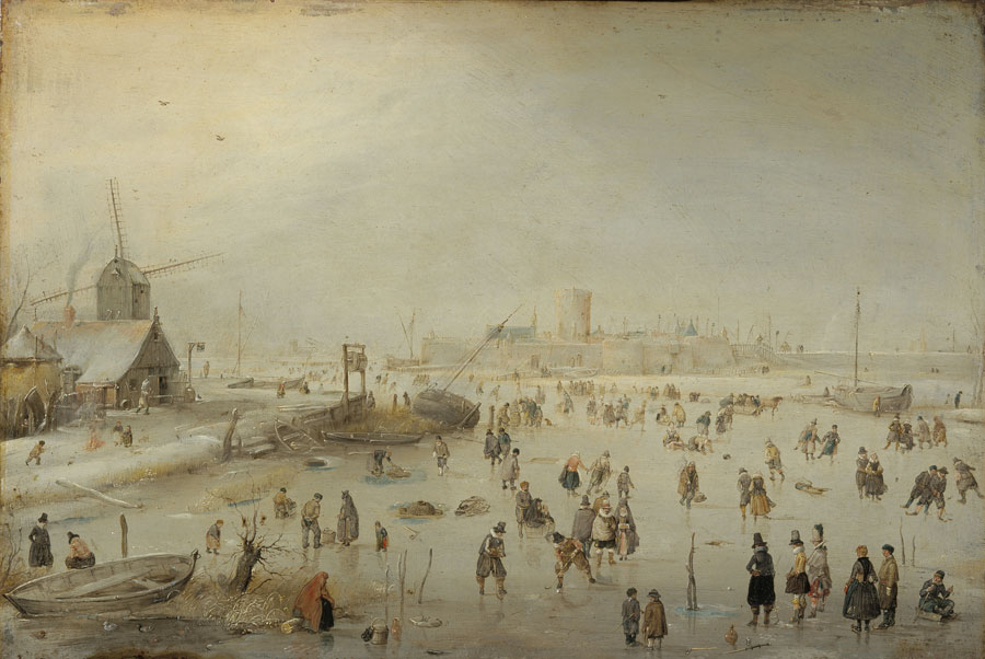 Hendrick Avercamp (Dutch, 1585-1634)                     Winter Landscape                     ca. 1610-1620                     Oil on copper