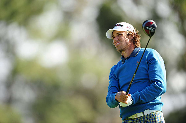 Aaron Baddeley eagled the final hole of the tournament. He finished at four under par.