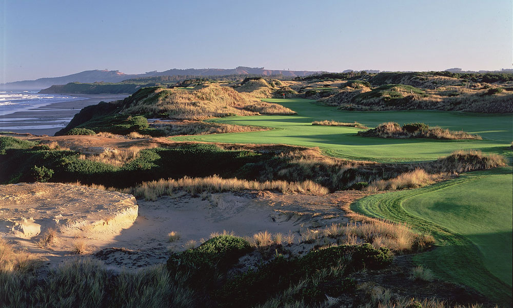 3. Bandon Dunes Resort, Bandon, OR; 888-345-6008, bandondunesgolf.com                     It's tough to beat a stunning, cliff-top setting, rock-solid accommodations and four of the finest public courses on Earth -- unless you add a spectacular 13-hole, par-3 course, designed by Bill Coore and Ben Crenshaw -- which is what Bandon Dunes did in 2012. Called Bandon Preserve, it joins our top-ranked public course, Tom Doak's Pacific Dunes, David McLay Kidd's Bandon Dunes and two other superstars by the sea, Bandon Trails and Old Macdonald in forming an unbeatable golf draw. The remote location, wacky weather and walking-only policy are plusses for some, drawbacks for others, but for purists, Bandon Dunes is the ultimate buddies trip in the U.S.