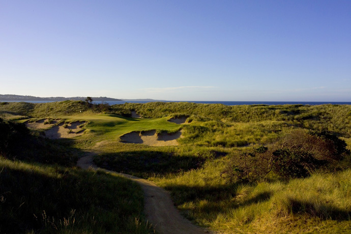 Barnbougle Dunes (34 World) and Lost Farm (72 World)                       Think Tasmania, and you picture a whirling cartoon devil. But think again. Wallabies are what you're more apt to see there, bounding across a stunning coastal dunescape. That, and two truly great layouts, sitting side by side, in a locale so far south you go Down Under, then head south a little more. (Pictured: Barnbougle Dunes)