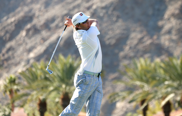 Ricky Barnes is tied for 19th after a three-under 69.