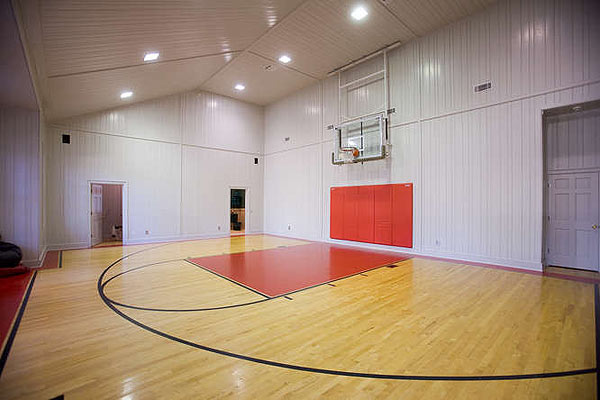 The home has an indoor basketball court.
