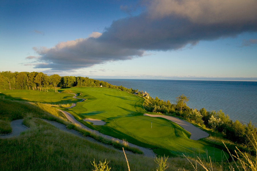 Bay Harbour Golf Club (Links/Quarry), Bay Harbor, Mich.: Lake Michigan provides stunning views on the nine holes of the Links course built by Arthur Hills here in 1996.