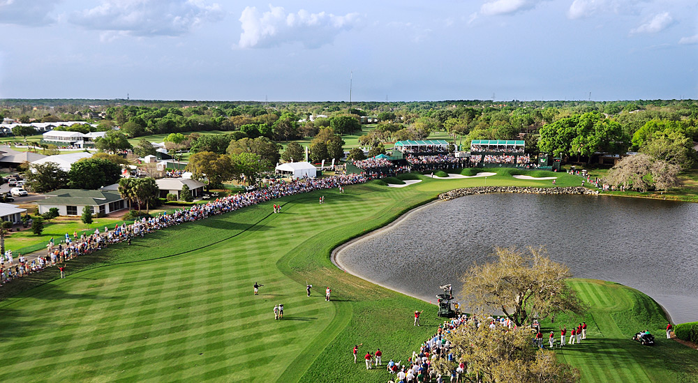The most nerve-wracking shot in golf is your next one, right? Well, only if your next one is one of these. Josh Sens dares to take a closer look at 10 of the scariest shots in the game.Second shot at the 458-yard, par-4 18th hole at Bay Hill -- Orlando, Fla.The green is kidney-shaped, but that's your stomach rumbling as you stare down a long approach over a rock-ringed lake, with bunkers awaiting if you bail out to the left and nothing but water if you miss right. At Arnie's course, the final shot would even rattle the King in his prime.