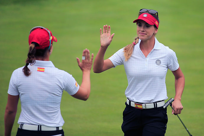 """I knew that top players, they don't have camaraderie.  They will end up killing each other in match play and that's not the way to play.""                       --Belen Mozo on how underdog Spain upset favorites like South Korea and the United States at the International Crown."