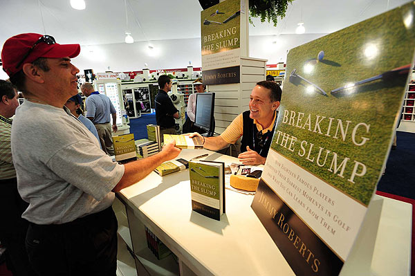 "Jimmy Roberts was on hand to sign copies of his book, ""Breaking the Slump."""