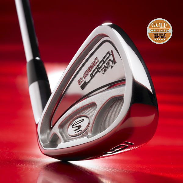 "WINNER                                              Cobra Carbon CB                       $699, steel; cobragolf.com                       • Go to Equipment Finder profile to tell us what you think and see what other GOLF.com readers said about this club.                                              Video: ClubTesters on the Cobra Cabron CB irons                                                                     We tested: 3-PW with True Temper Dynamic Gold steel shaft                       Company line: ""Tour head design, with thinner topline, classic profile and minimal offset, leads to greater workability. The 8620 carbon steel head delivers soft, solid feel.""                                               Our Test Panel says: Tops for accuracy and distance; slightly larger heads breed confidence; mucho playability — able to shape shots with regularity; no                       need for hybrids because long irons are super fun to hit and to get in the air; clubs rip through rough; feel on off-center shots is immediately transferred to hands.                                              Shots want to fly straight, like a laser beam. — Jon Tate"