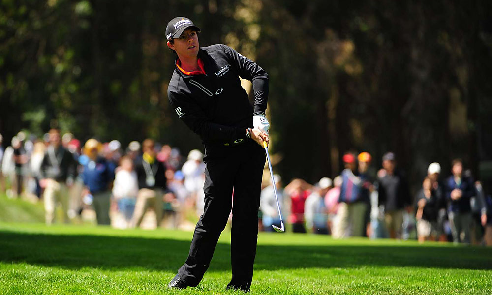 McIlroy, No. 2 in the world, failed to make a birdie on his front nine Thursday.