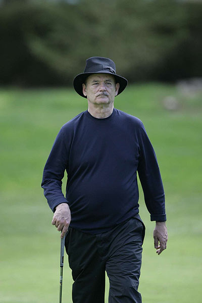 Bill Murray played on the Spyglass course in the first round.