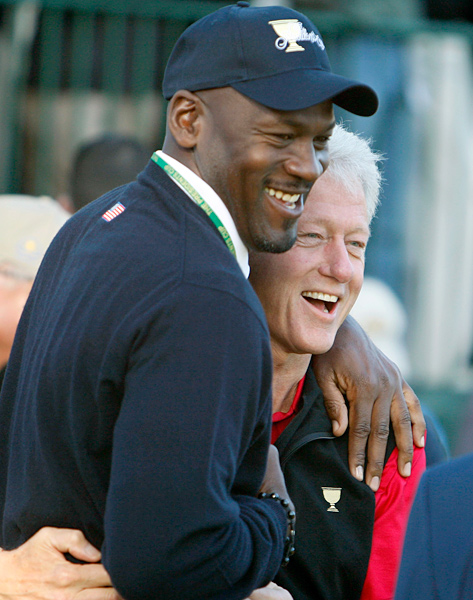 Michael Jordan served as an assistant captain for the U.S. team at the 2009 Presidents Cup at Harding Park in San Francisco.