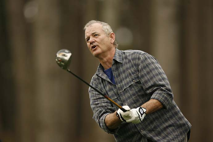 Bill Murray in action during the 2007 AT&T Pebble Beach National Pro-Am. For all his hijinks on the course, Murray is a very good player.