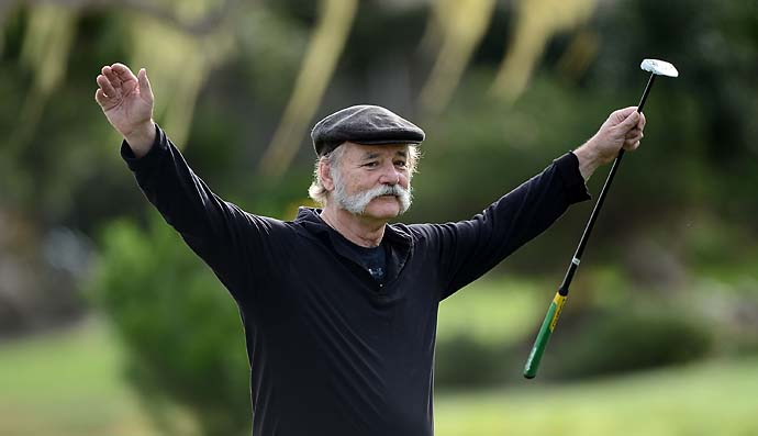 """I'd love to have Bill Murray on, but he's very difficult to get hold of. The only way you can get in touch with him is to leave a message at his gym, which he doesn't attend.""                     --David Feherty on getting guest for his Golf Channel show 'Feherty.'"
