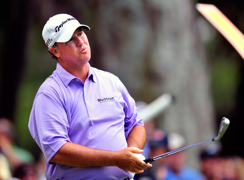 Boo Weekley is four strokes off the lead.