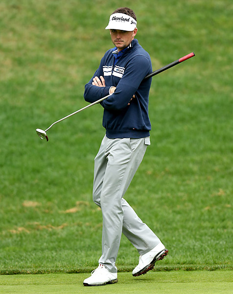 Keegan Bradley rode his belly putter to a first-round 69.