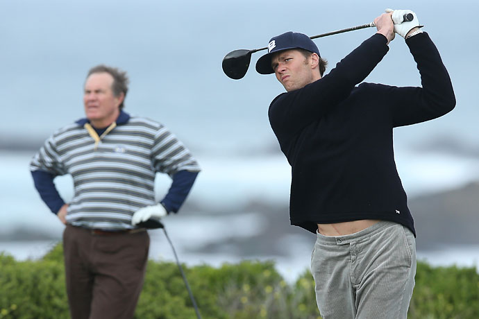 """It's been great. He doesn't yell at me out here like he does during the weeks of practice.""                       --Tom Brady on playing with Bill Belichick at the AT&T Pebble Beach National Pro-Am."