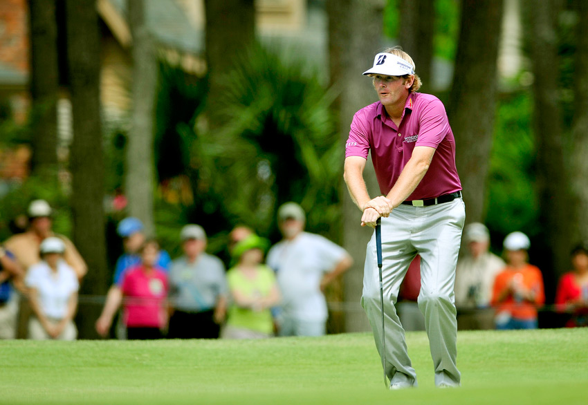 Brandt Snedeker overcame a double bogey to finish with a 69.