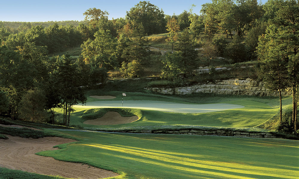 "10. Branson Creek, Hollister, MO; 417-339-4653, bransoncreekgolf.com                     Headliners such as Andy Williams, the Gatlin Brothers and the Oak Ridge Boys have made this Ozark Mountain haven ""the live music show capital of the world."" It's also one of the better values in the golf world, thanks to layouts such as Payne Stewart Golf Course, Murder Rock and especially Branson Creek. Tom Fazio designed Branson Creek in 2000 with all his usual bells and whistles, including vast, flowing, tree-lined fairways, gorgeously sculpted bunkers and a number of handsomely sited water hazards."