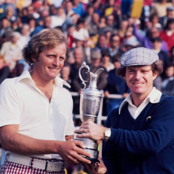 1975                       CHAMPION                       TOM WATSON                                              SCORE 279                                              • In benign conditions, the field went low with a smattering of 67s, 66s and a then-course record 65 from Aussie Jack Newton. Newton and Tom Waton finished tied, but, under a steady rain, Watson took the next day's playoff by one.